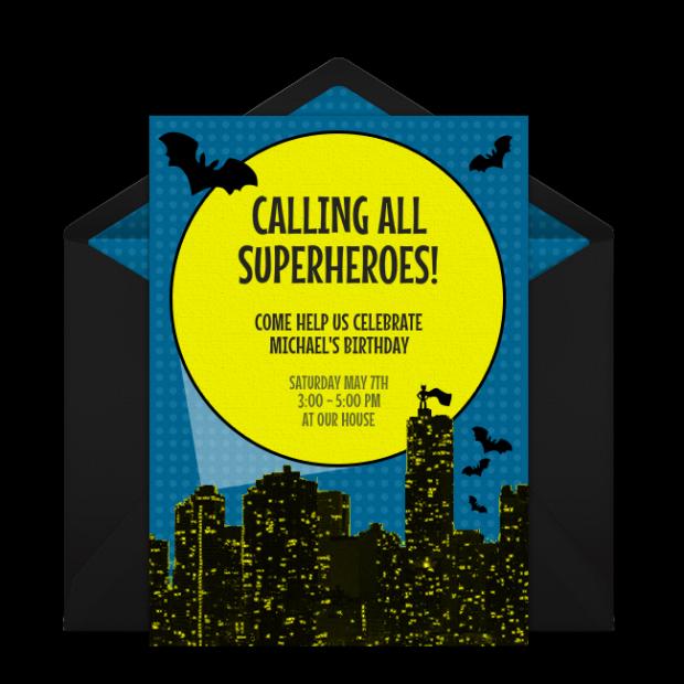 Bat Punchbowl Invitation