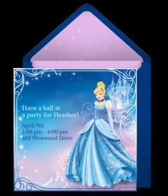Disney Princess Punchbowl Card
