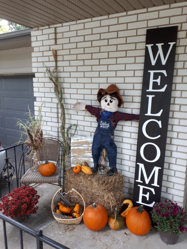 scarecrow in display